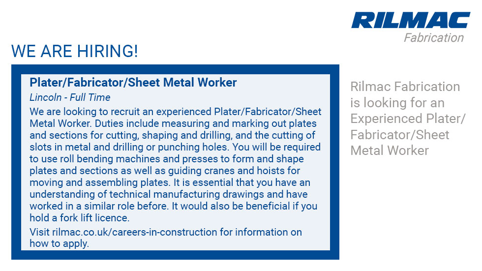 Careers in construction and fabrication at the Rilmac Group